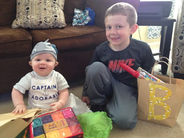 boys with c & cs gifts