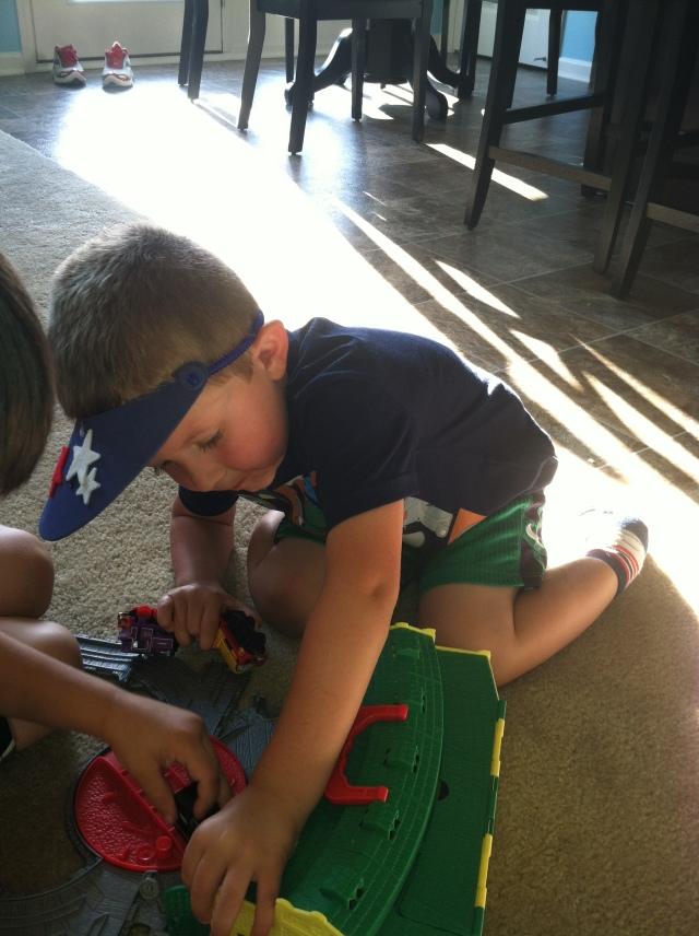 Brayden trains with Gavin
