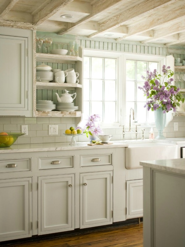gn-of-the-cottage-kitchen-idea-with-white-cabinet-theme-and-some-fresh-flowers-inviting-schemes-of-interior-ideas-for-stylish-and-charming-cottage-kitchens