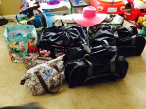 Thirty One products exploded in our flex room!  Ready to go!