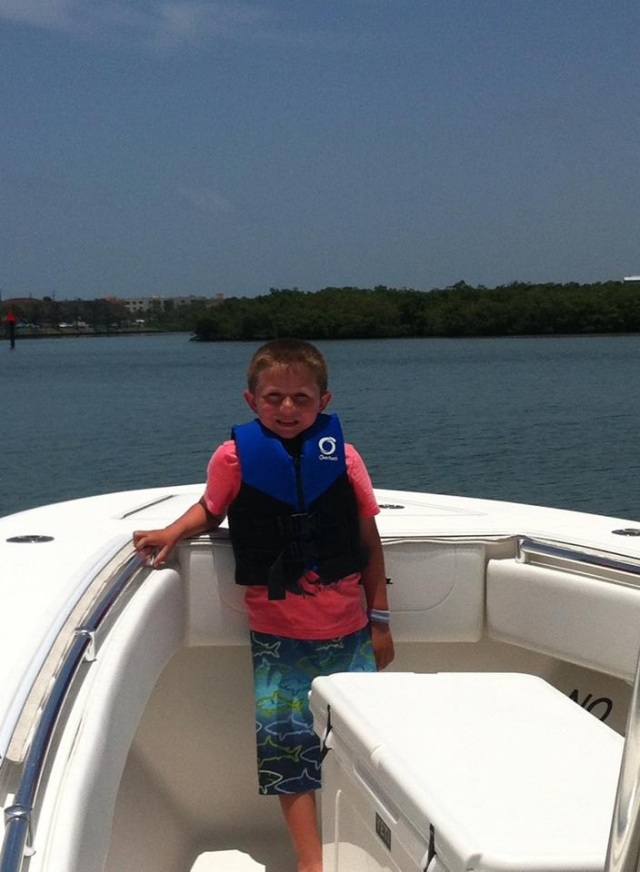 Brayden was able to go deep sea fishing a few days with Brock, my brother and my dad.  It was his first time on a boat in the ocean and he rocked it!