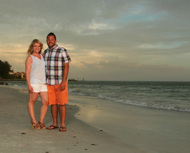 Love this picture of my hubby and I.  Isn't his tan sickening?  I mean, really?!