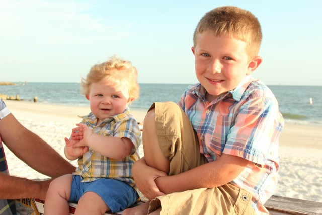 Beach babies and best buddies.