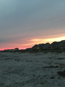 Sunsets over Caswell Beach